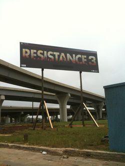 Resistance 3 - affiche publicitaire