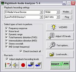 RightMark Audio Analyzer screen2