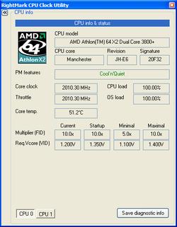 RightMark CPU Clock Utility screen1