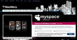 RIM Blackberry MySpace