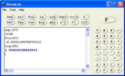 RionaCalc screen 2