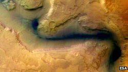 rivière sur Mars
