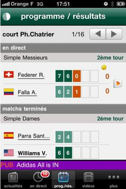 Roland Garros 2011 iPhone 02