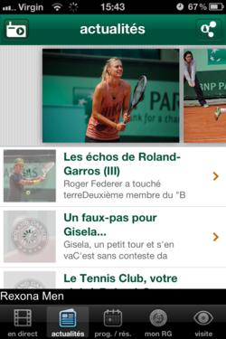 Roland Garros 2012 iOS 1
