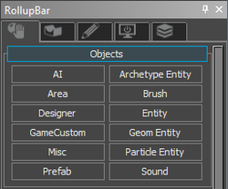 RollUppBar screen