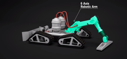 Rover impression 3D Régolithe