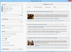Royal RSS Reader screen2