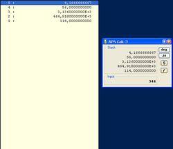 RPN Calc screen2