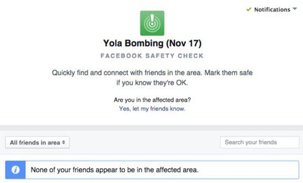 Safety Check Facebook Nigeria.