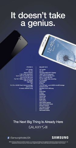 Samsung Galaxy S III iPhone 5