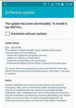 Samsung Galaxy S6 mise jour