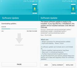 Samsung Galaxy S7 mise jour