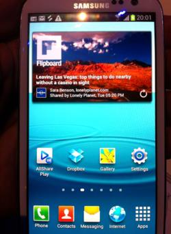 Samsung Galaxy SIII Flipboard