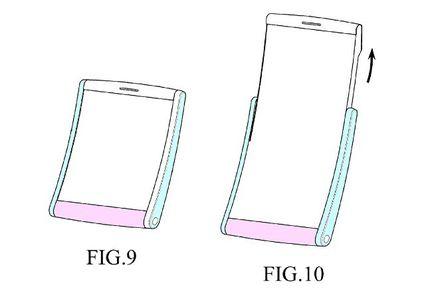 Samsung USPTO smartphone enroulable