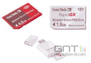 Sandisk memory stick duo pro 4go al