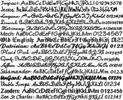 Script & Calligraphy Fonts screen 2