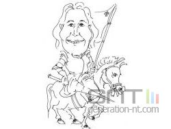 Segolene royal caricature small