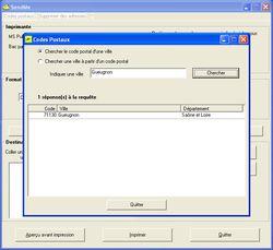SendMe screen