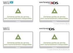 Serveurs Nintendo - maintenance