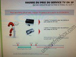 SFR augmentation tarifs options TV