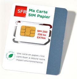 SFR carte SIM papier.