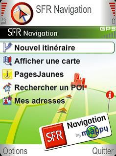SFR Navigation by Mappy