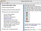 Simple Help Editor pour Macintosh