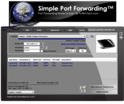 Simple Port Forwarding Portable screen1