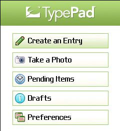 Six Apart TypePad Blackberry 02