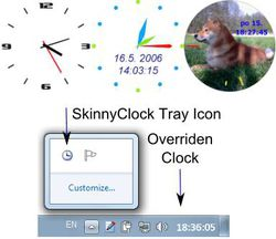 skinny clock screen