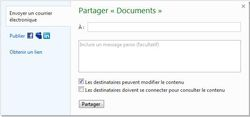 SkyDrive-partage