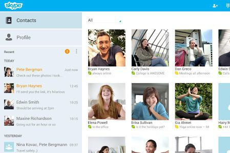 Skype Android Tablette