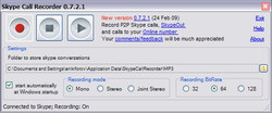 Skype Call Recorder screen2