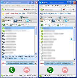 Skype Launcher screen1