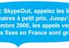 Skype gratuit vers les fixes en France jusque fin 2006