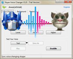 Skype Voice Changer screen2