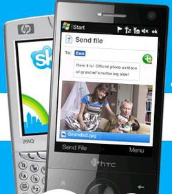 Skype Windows Mobile transfert fichiers