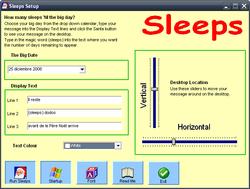 Sleeps screen
