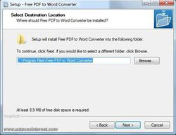 SmartSoft Free PDF to Word Converter screen 2