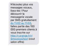 SMS orange