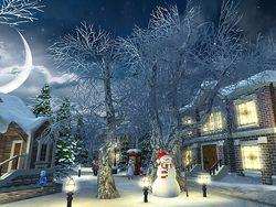 Snow Village 3D screen 3