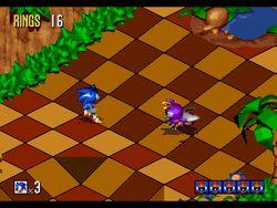 Sonic 3D Blast screen 2