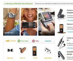 Sony Ericsson boutique en ligne