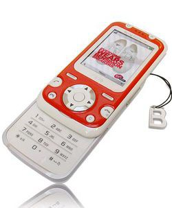 Sony Ericsson F305 Bensimon coque rouge
