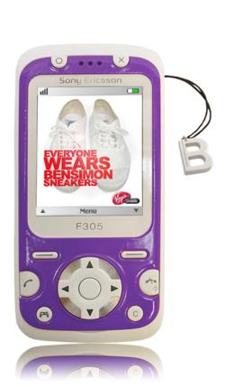 Sony Ericsson F305 Bensimon coque violette