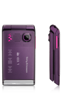 Sony Ericsson W380i mauve