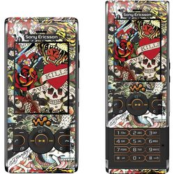 Sony Ericsson W595 Ed Hardy by Christian Audigier