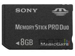 Sony memory stick 8 go small