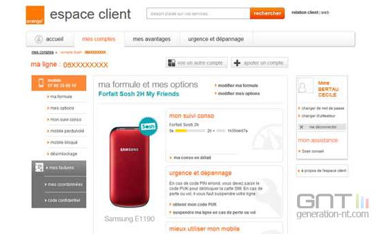 zoom  sosh orange espace client