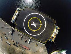 Space X plateforme océan